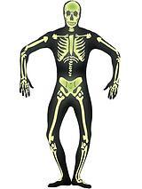 Halloween Skeleton Glow in the Dark Second Skin - Adult Costume
