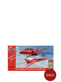 airfix-red-arrow-50th-display-season-twin-pack-gift-set-gnat-and-hawk