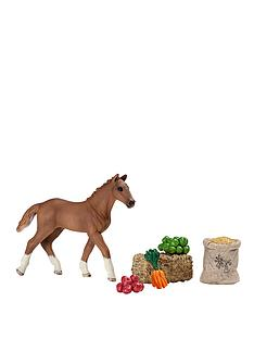 schleich-foal-eating-playset