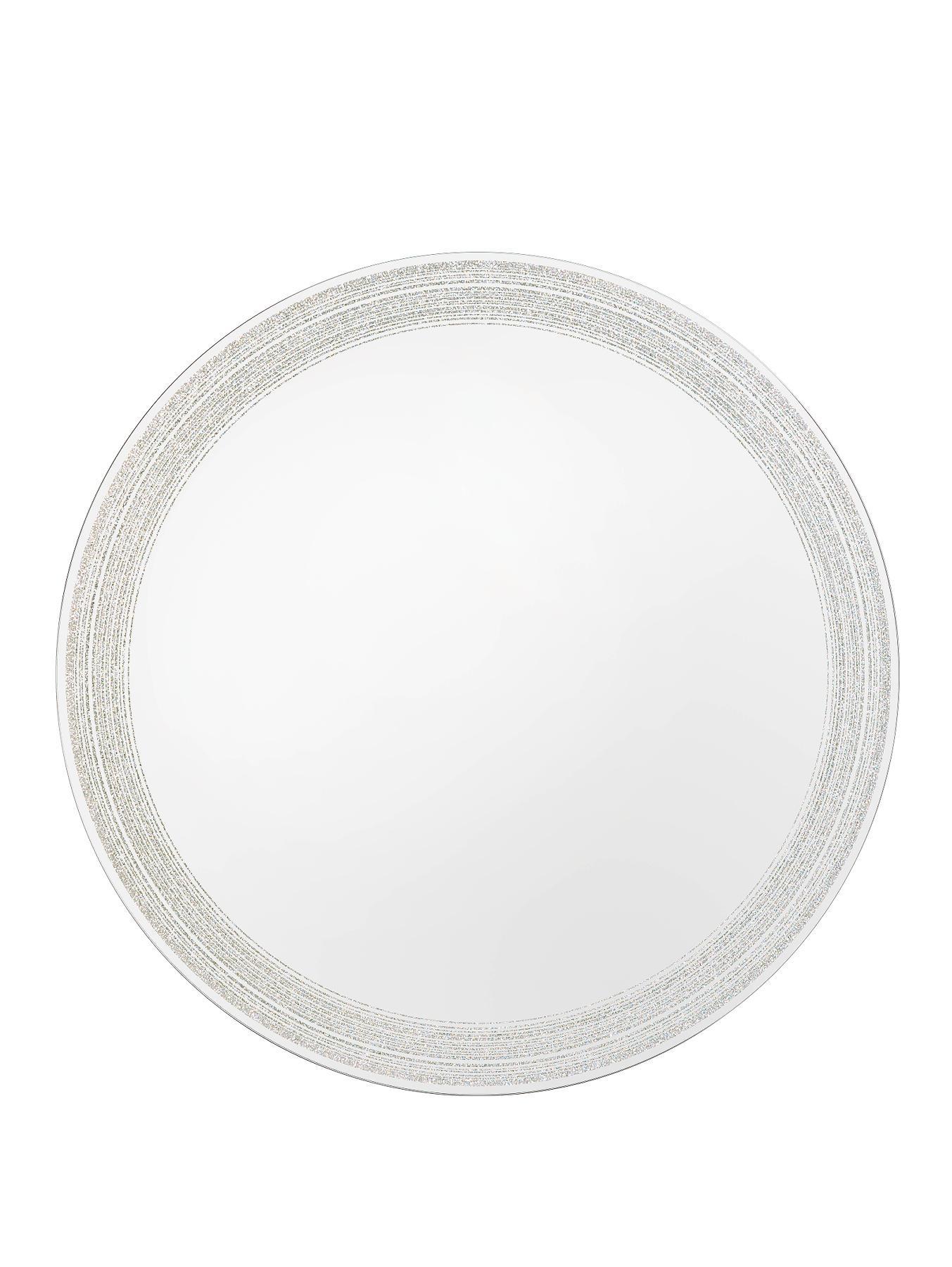 Glitter Print Circular Mirror Diameter 50cm