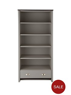 consort-tivolli-large-ready-assembled-bookcase-greywalnut-effect