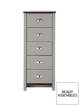 consort-tivoli-ready-assembled-5-drawer-chest-greywalnut-effect