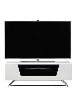Alphason Chromium TV Stand - fits up to 50 inch TV - White