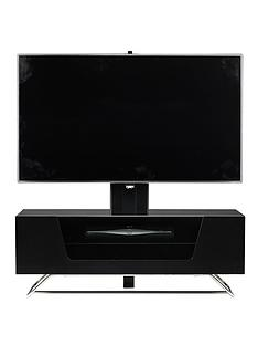 alphason-chromium-cantilever-tv-stand-black-fits-up-to-50-inch-tv