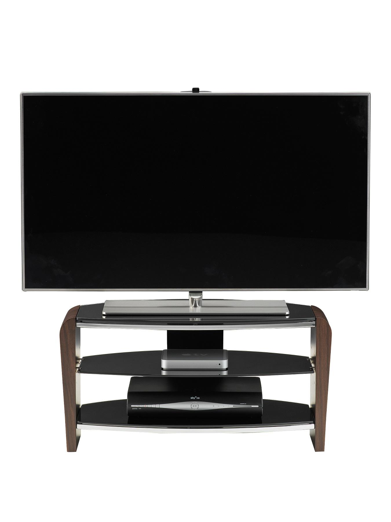 Alphason Francium 800mm TV Stand - fits up to 37 inch TV - Walnut