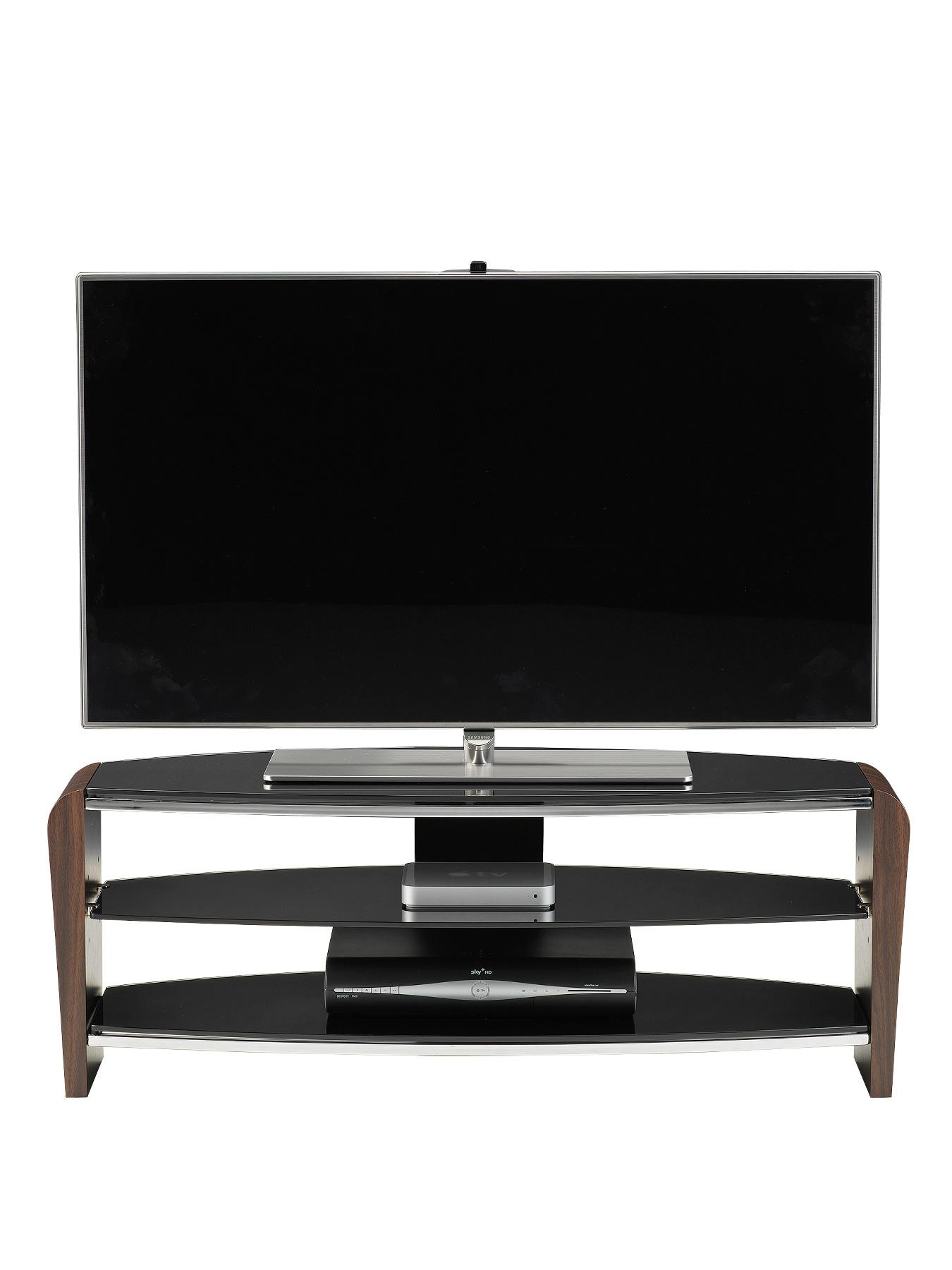 Alphason Francium 1100mm TV Stand - fits up to 50 inch TV - Walnut