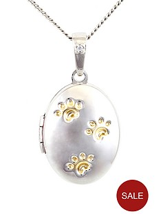 pawprints-sterling-silver-locket-with-message-only-true-friends-leave-pawprints-in-your-heart