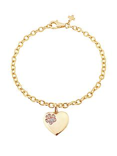 pawprints-gold-plated-on-sterling-silver-cubic-zirconia-set-heart-drop-bracelet-with-message-only-true-friends-leave-pawprints-in-your-heart