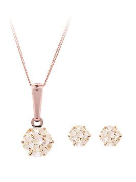 love-gold-9-carat-rose-gold-champagne-cubic-zirconia-earrings-and-pendant-set