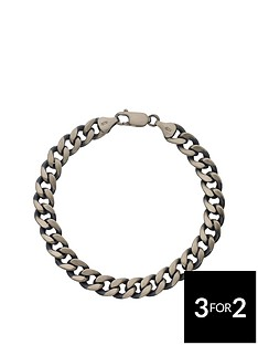 the-love-silver-collection-sterling-silver-gunmetal-finish-hollow-curb-mens-bracelet