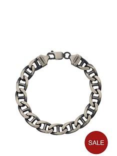 love-silver-sterling-silver-gunmetal-solid-marine-link-mens-bracelet