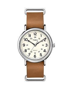 timex-weekender-indiglo-night-light-brown-leather-strap-unisex-watch