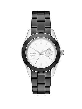 DKNY Jitney Black Ceramic Ladies Watch