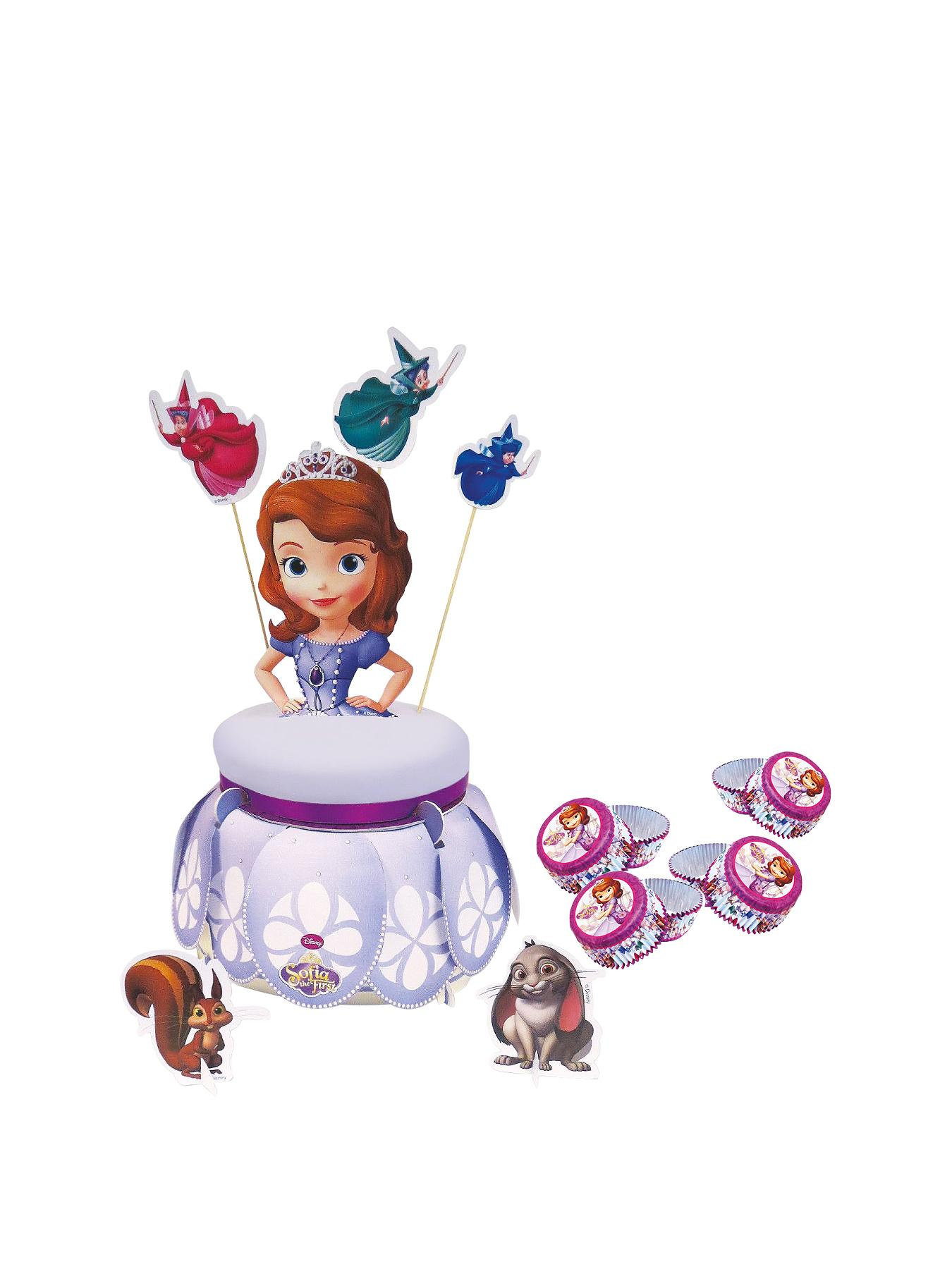 Sofia The First Cake Stand with 48 Cup Cake Cases