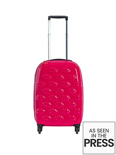 lulu-guinness-hard-sided-4-wheel-lips-cabin-case