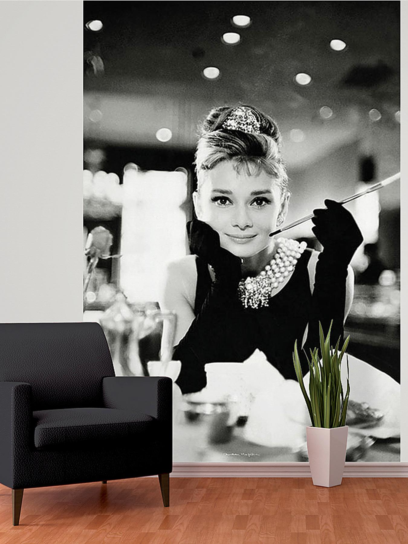 1Wall Audrey Hepburn Breakfast at Tiffany's Wall Mural