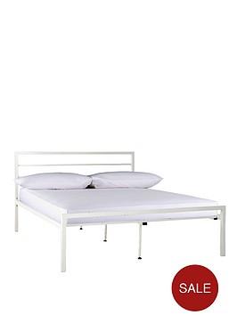 satin-metal-bed-frame-with-optional-mattress