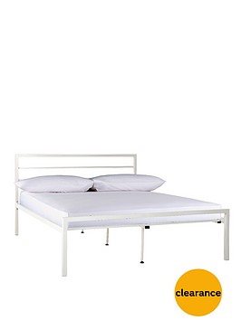 satin-metal-bed-frame-with-optional-mattress