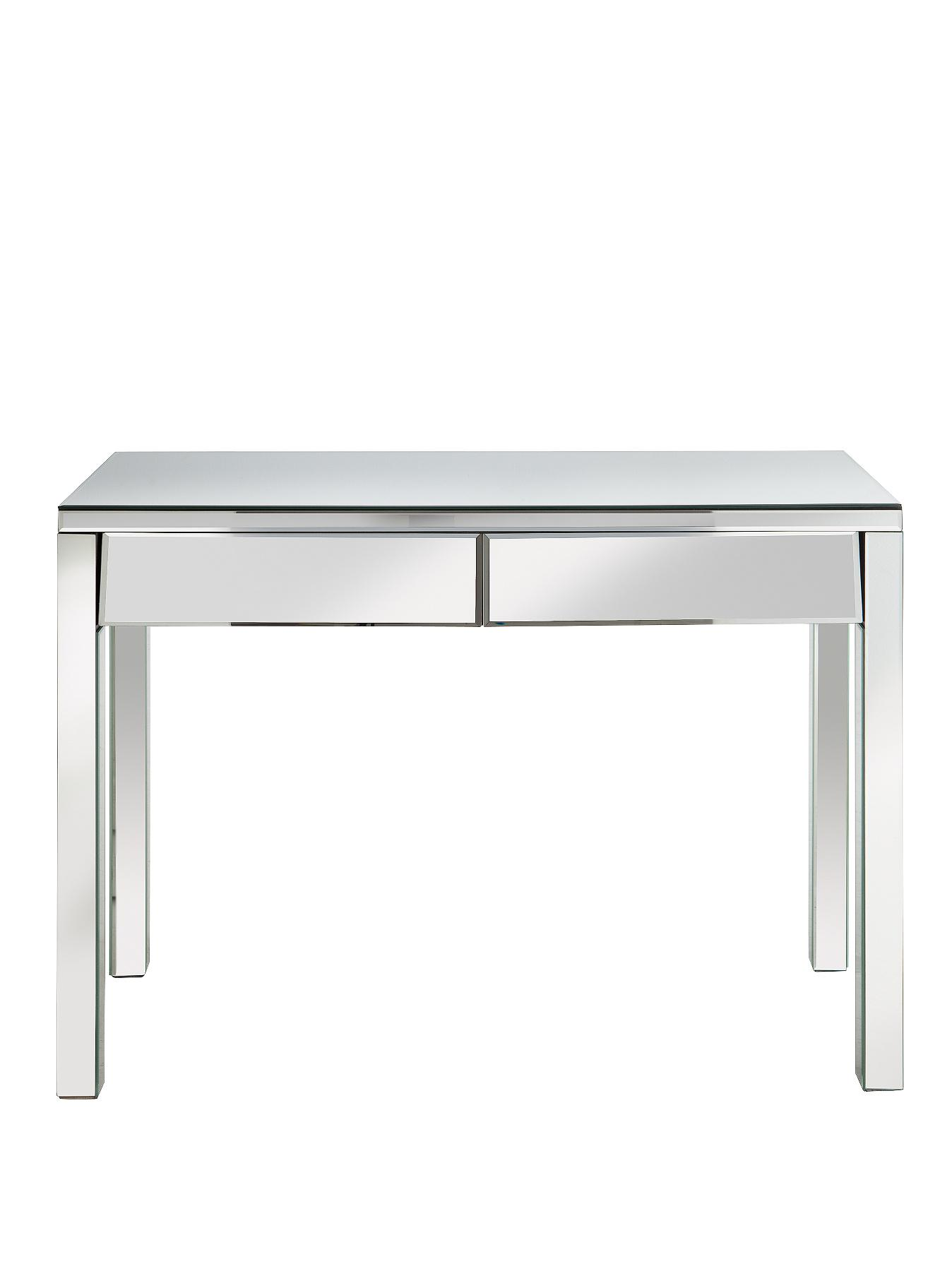 New Monte Carlo Ready Assembled 2-Drawer Mirrored Dressing Table