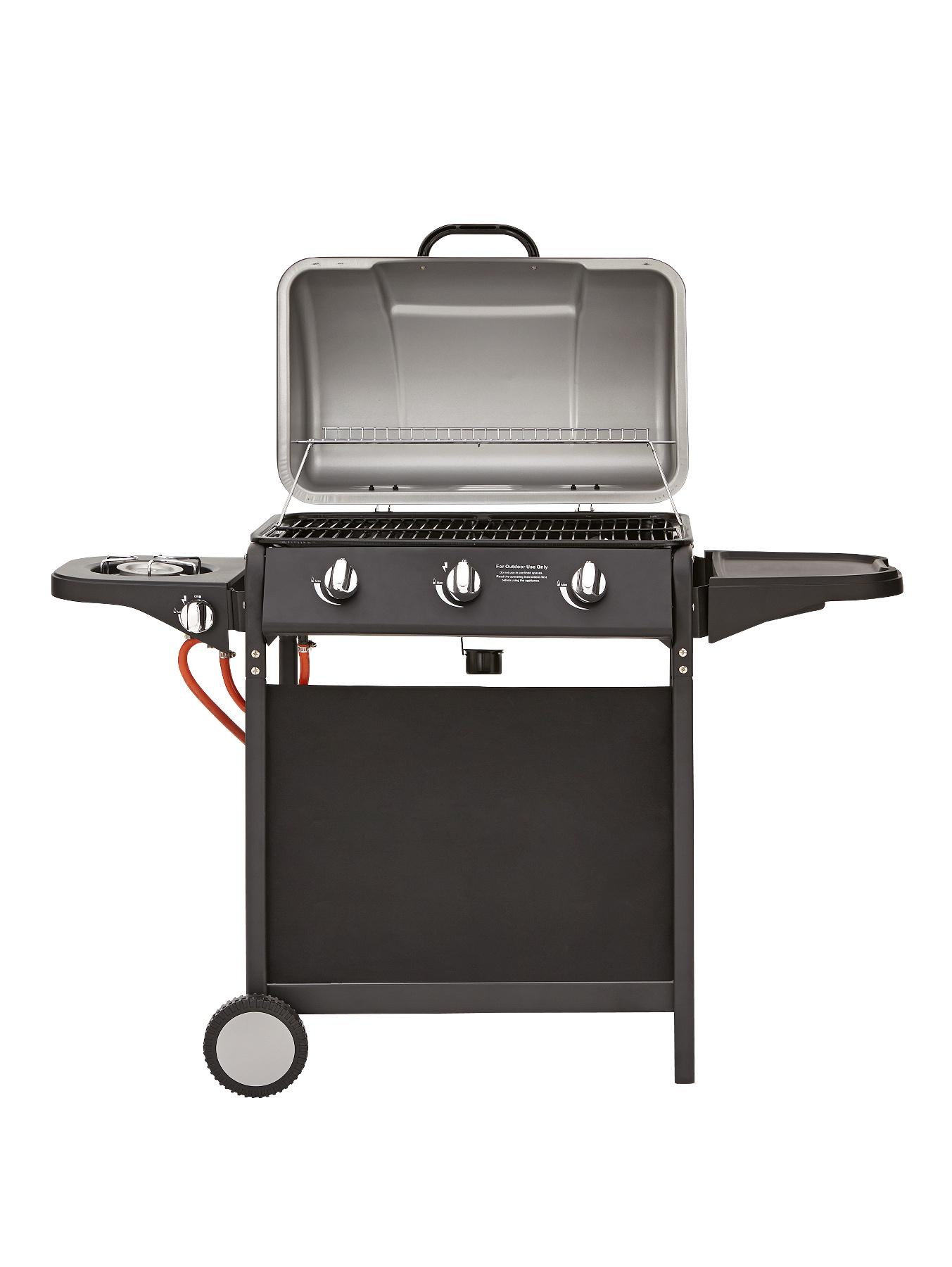 3 Burner Gas BBQ with Side Burner