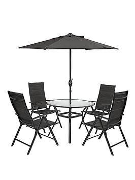 seville-6-piece-round-dining-set-with-next-day-delivery-black