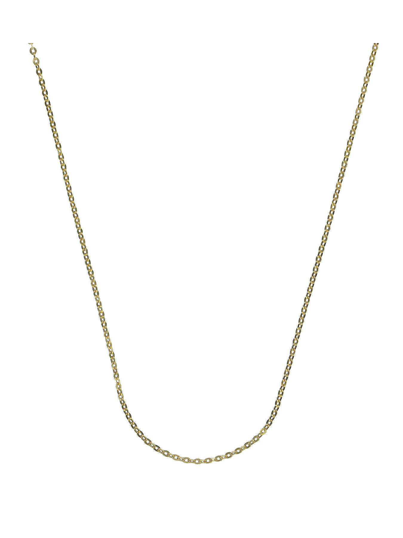 Sterling Silver and 9 Carat Yellow Gold Boned Chain 22 inch