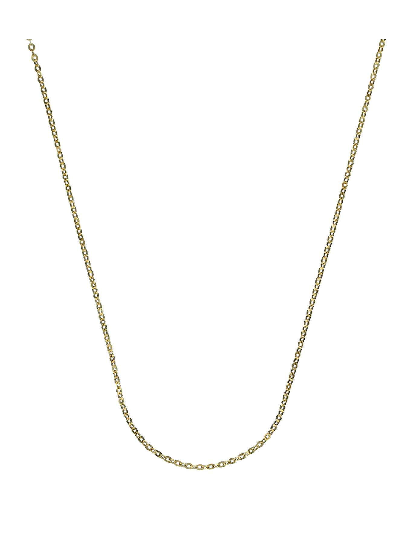 Sterling Silver and 9 Carat Yellow Gold Bonded Chain 18 inch