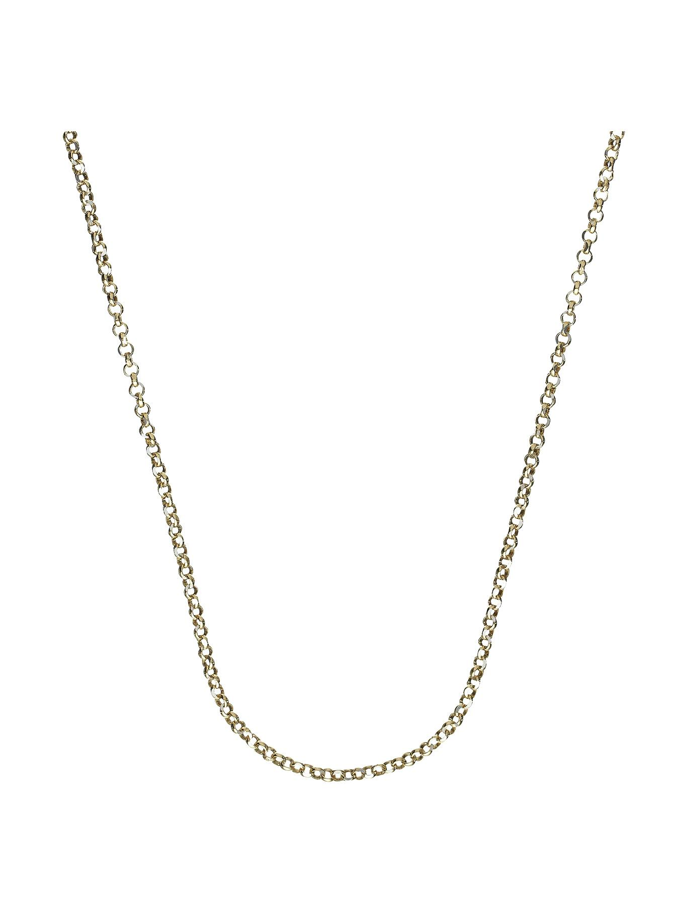 Sterling Silver and 9 Carat Yellow Gold Bonded Diamond Cut Belcher Chain