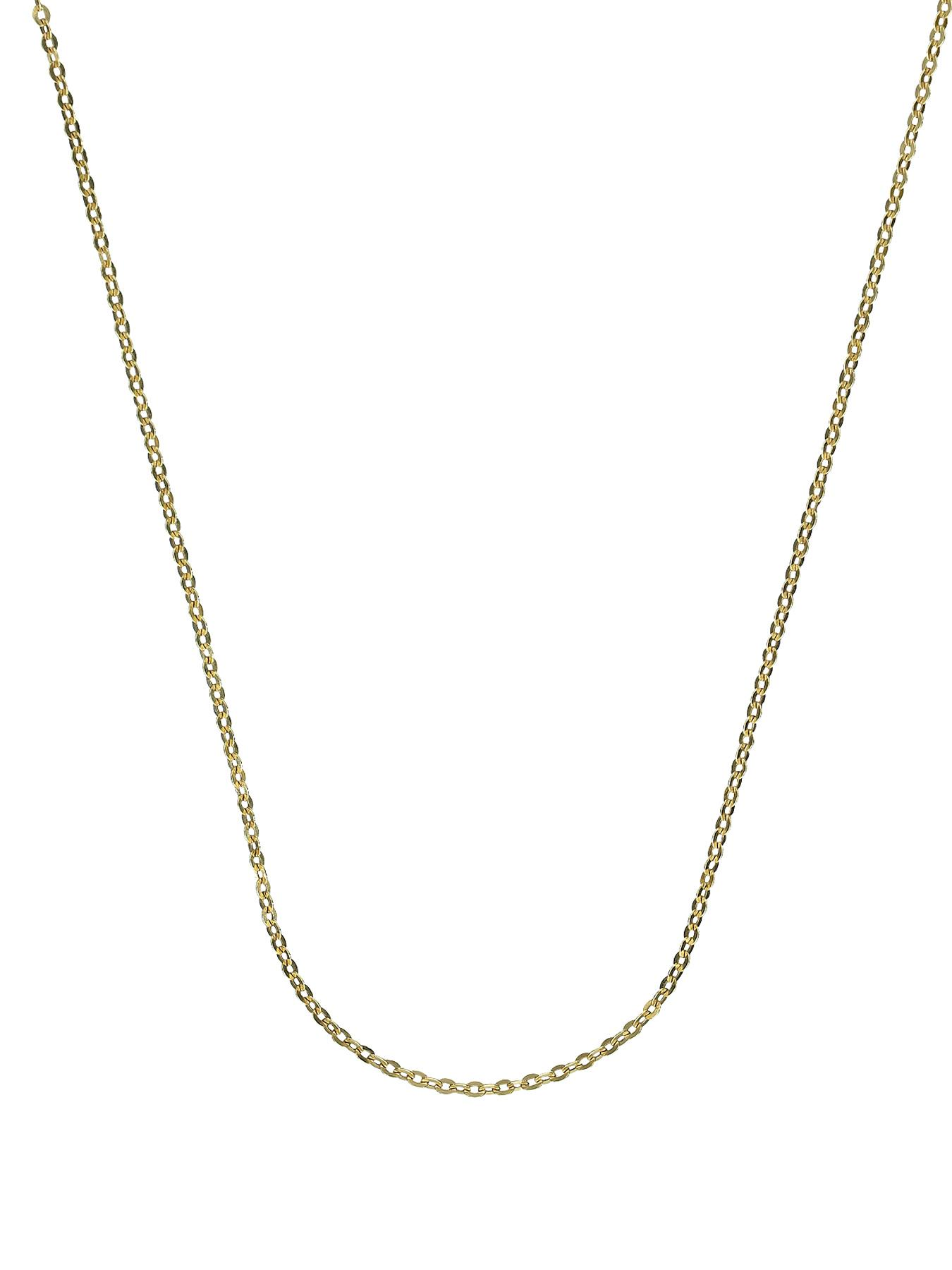 Sterling Silver and 9 Carat Yellow Gold Bonded Chain 16 inch