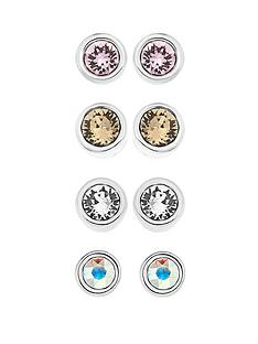set-of-4-stainless-steel-crystal-stud-earrings-made-with-swarovski-elements