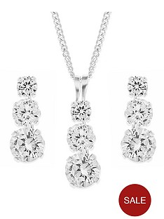 love-gem-sterling-silver-rhodium-plated-trilogy-cubic-zirconia-pendant-and-earring-set