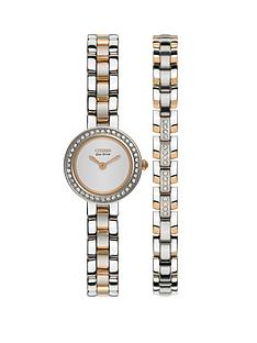 citizen-eco-drive-stainless-steel-two-tone-watch-and-bracelet-ladies-gift-set