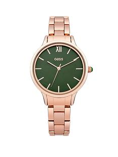 oasis-green-dial-rose-coloured-bracelet-ladies-watch