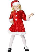 Mini Miss Santa Girl - Child's Christmas Costume
