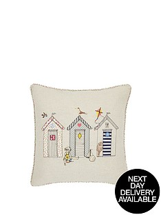hamilton-mcbride-beach-huts-embroidered-cushion