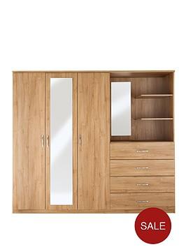 peru-3-door-4-drawer-mirrored-combi-wardrobe