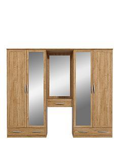 oslo-4-door-3-drawer-dressing-unit-combi-mirrored-wardrobe