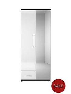 cologne-gloss-2-door-1-drawer-wardrobe
