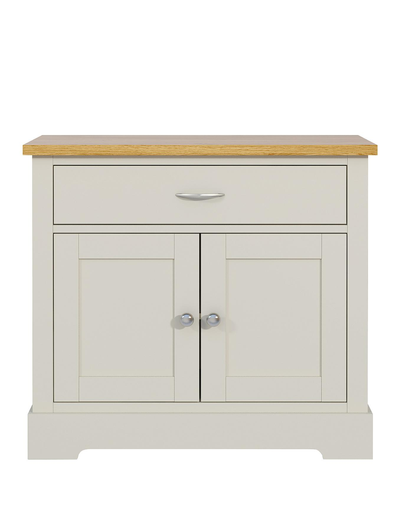 Holsworth 2-Door, 1-Drawer Compact Sideboard - Grey, Grey