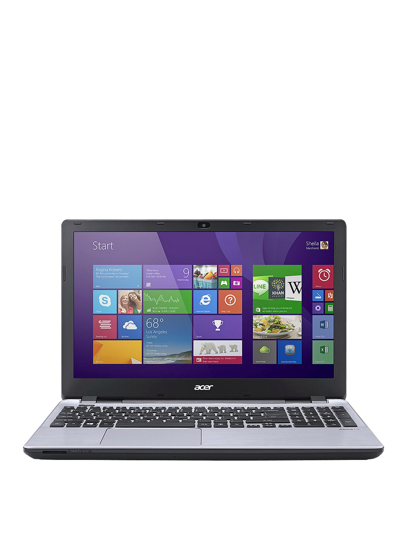 Acer V3-572 Intel Core i5 Processor, 6Gb RAM, 1Tb Hard Drive, Wi-Fi, 15.6 inch Laptop - Silver