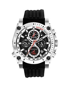 bulova-precisionist-chronograph-on-black-rubber-strap-mens-watch