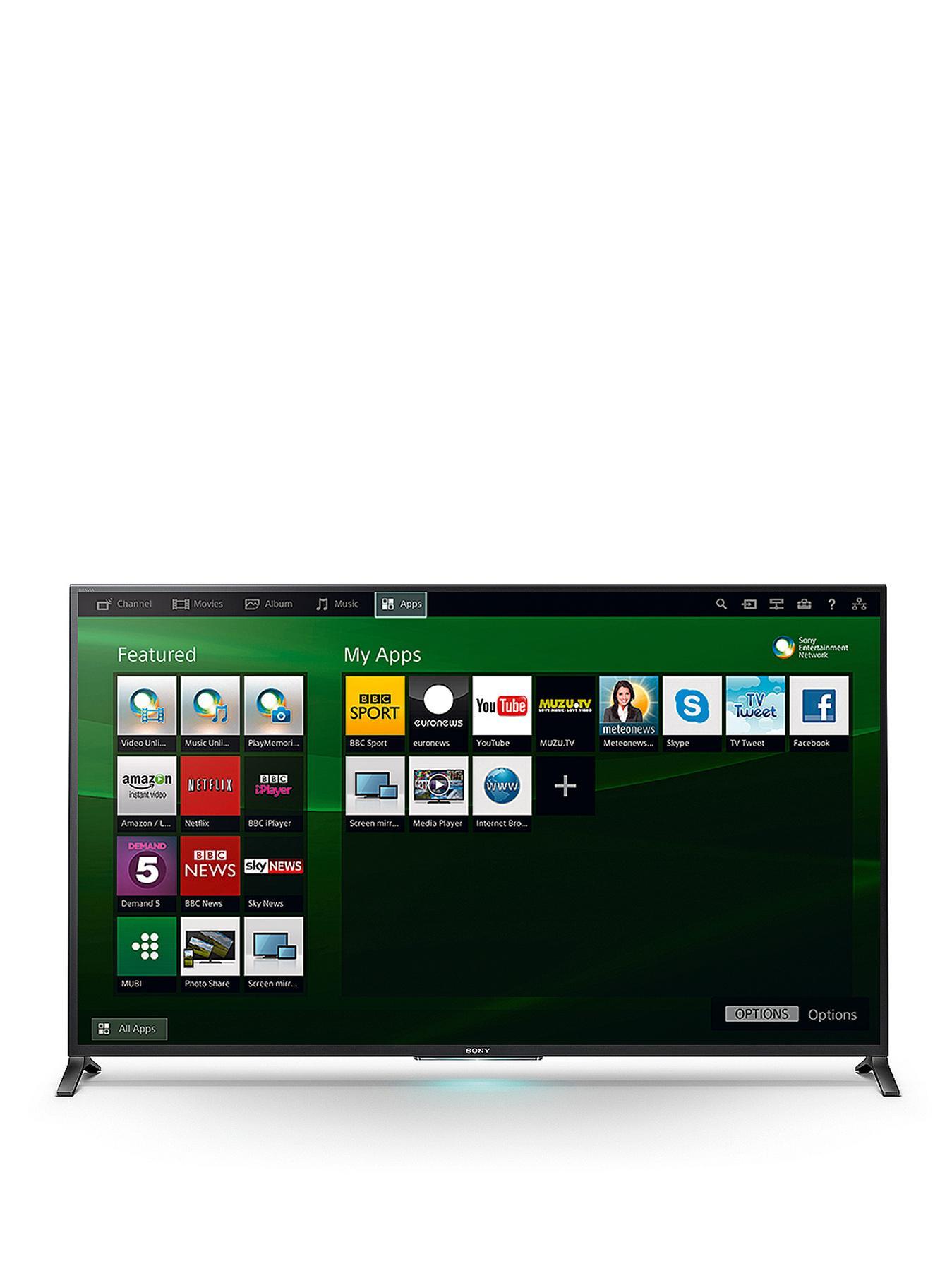 Sony KDL60W855BBU 60-inch Wedge Design Widescreen 1080p Full HD Smart LED 3D TV