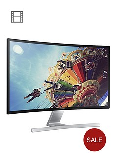 samsung-ls27d590cs-27-inch-curved-led-1920-x-1080-dsub-dvi-and-hdmi-visa-mountable-monitor-black