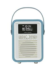 view-quest-retro-mini-radio-alarm-clock-blue