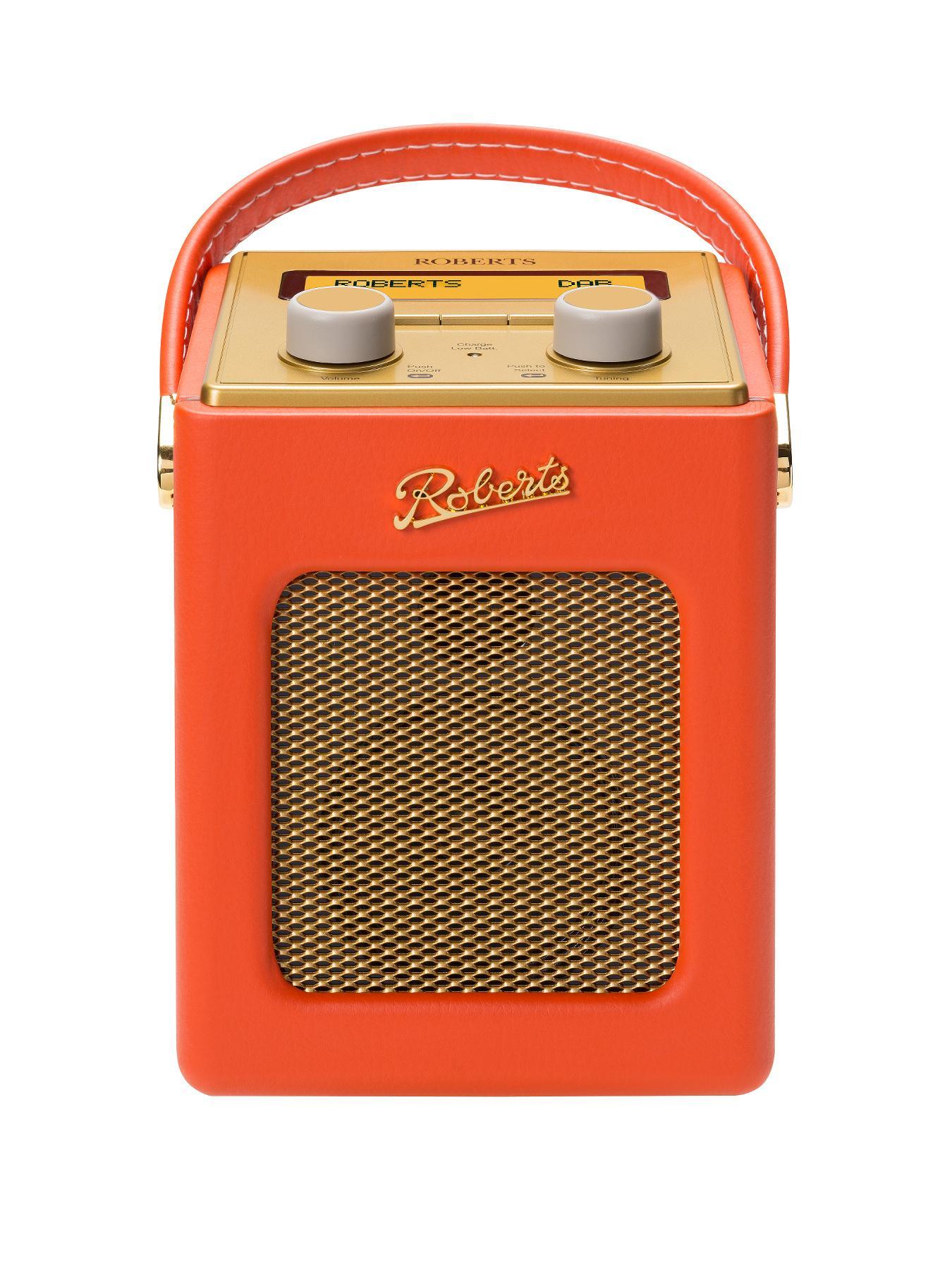 Roberts Mini Revival DAB DAB+ FM Digital Radio - Orange - Orange, Orange