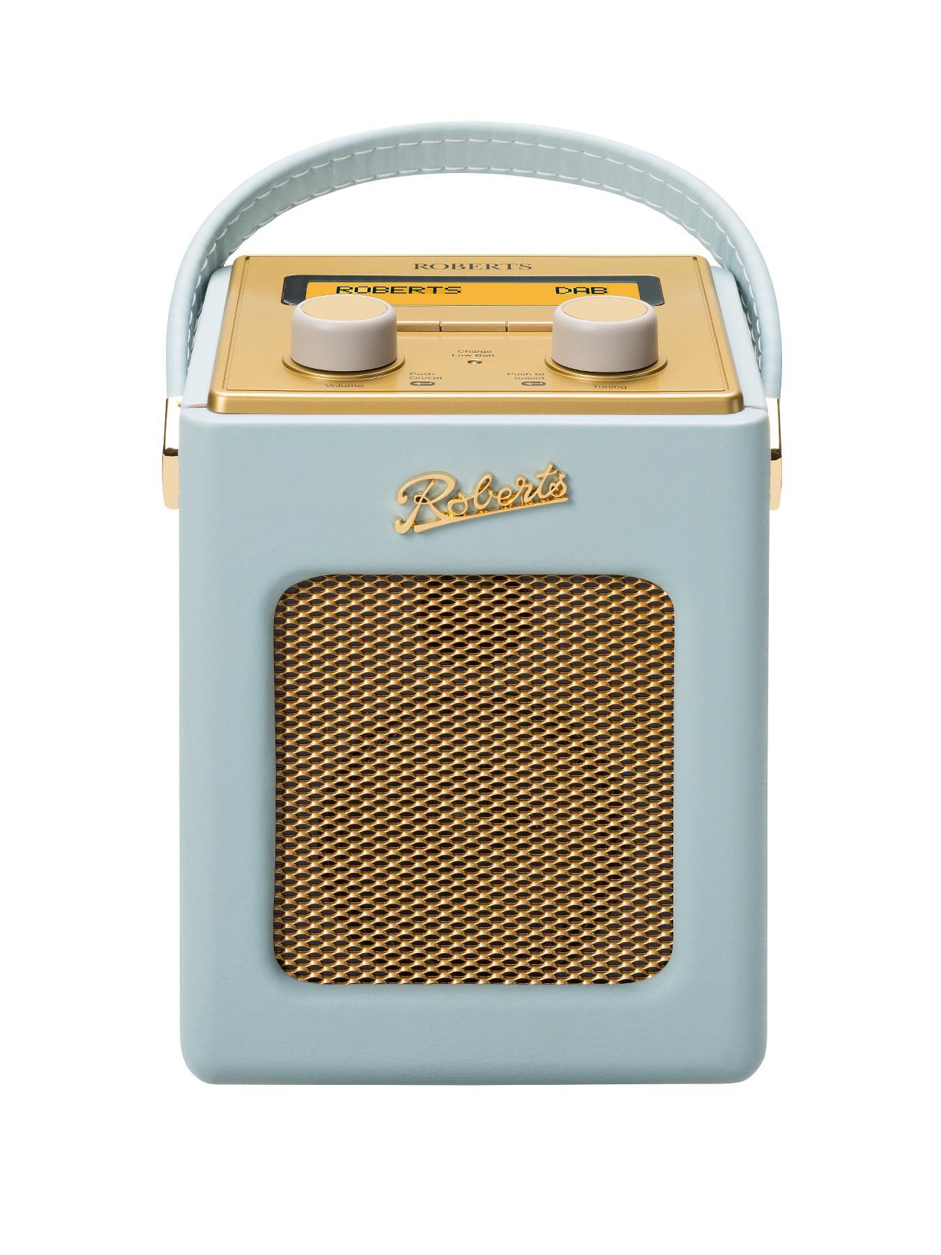Roberts Mini Revival DAB DAB+ FM Digital Radio - Duck Egg Blue - Blue, Blue