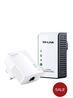 tp-link-200mbps-powerline-with-300mbps-range-extender-white