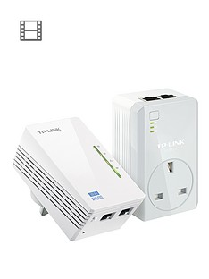 tp-link-500mbps-powerline-with-pass-through-and-300mbps-wi-fi--white