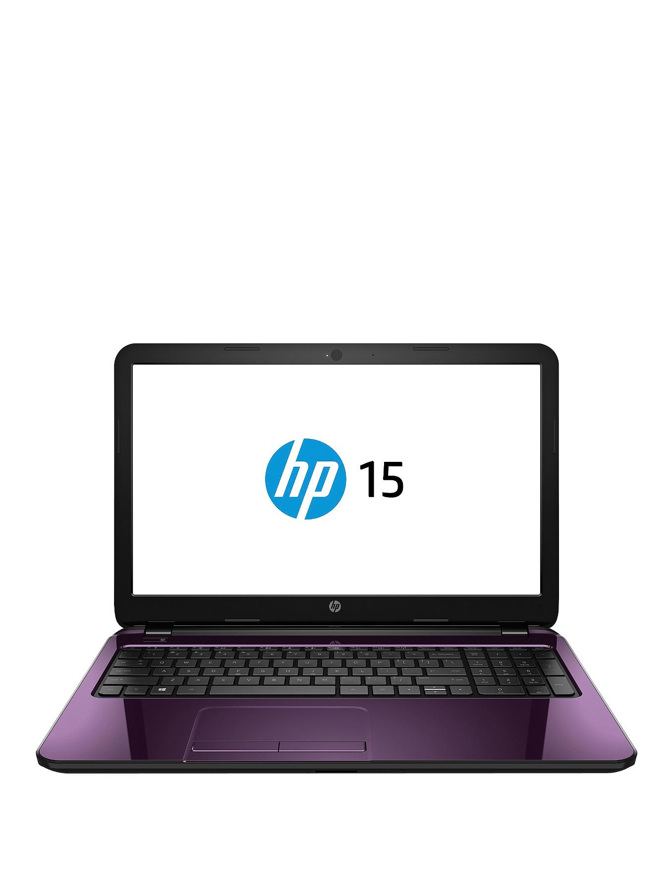 HP 15-r206na Intel Pentium Processor, 4Gb RAM, 1Tb Hard Drive, Wi-Fi, 15.6 inch Touchscreen Laptop with Optional Microsoft Office 365 Personal - Purple