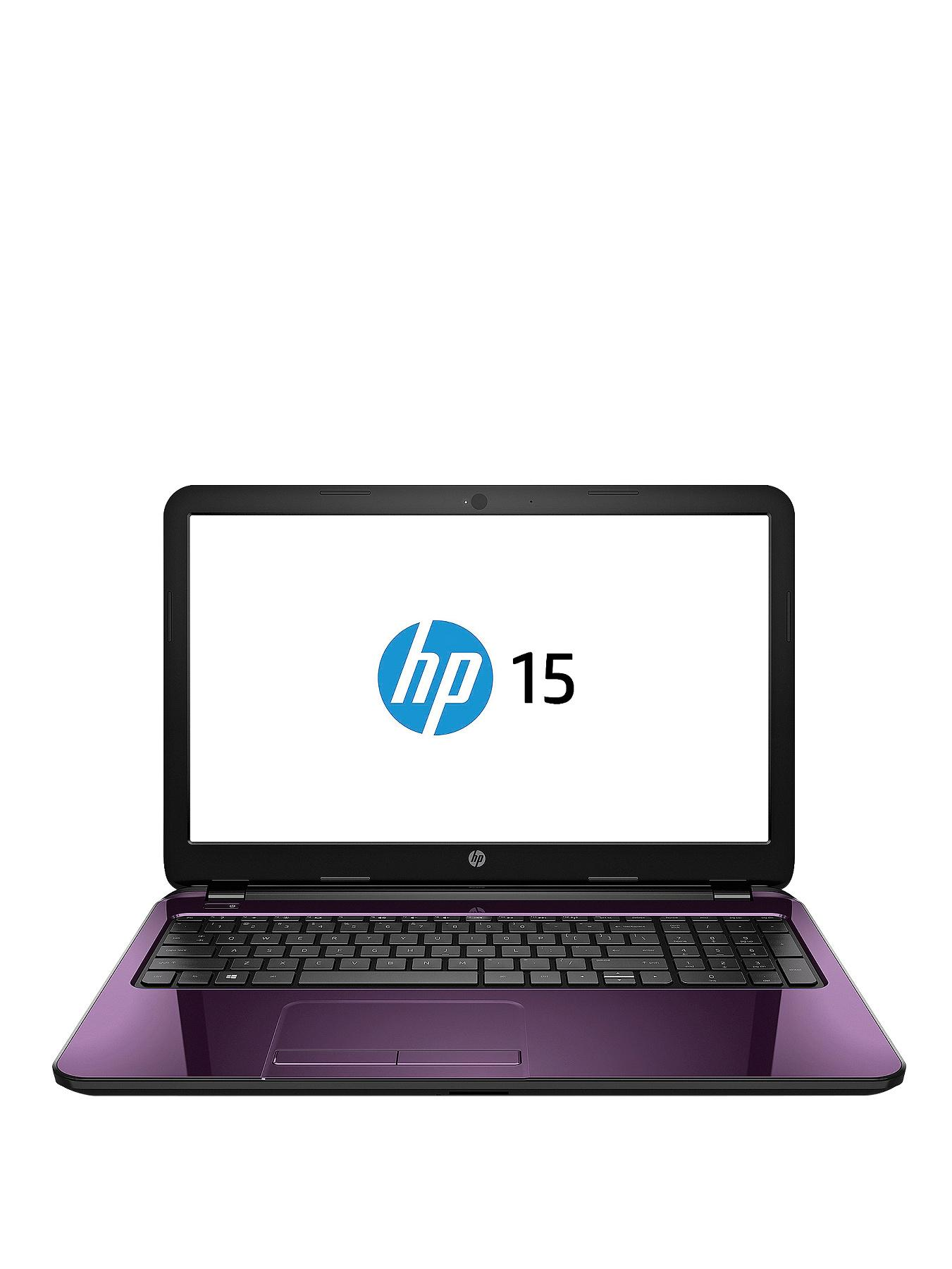 HP 15-r208na Intel Core i3 Processor, 8Gb RAM, 1Tb Hard Drive, Wi-Fi bgn, 15.6 inch Laptop Purple with Optional Microsoft Office 365 Personal